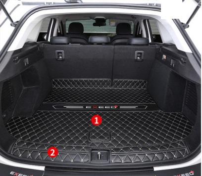 Коврики в багажник 2 элемента CHERYEXEED TXL 2020-