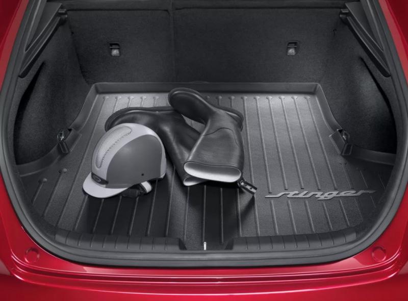 накладки на пороги с led подсветкой и надписью stinger kst dsax 01 для kia stinger 2018 Коврик багажника Hyundai/KIA резина черный J5122ADE00 KIA Stinger (1G) 2017-