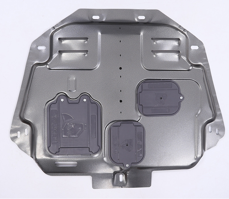 Защита картера и кпп, алюминиевая CHN для Haval F7 (Хавал Ф7) 2018 + защита картера и кпп rival алюминиевая для toyota camry 2018