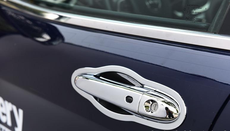 Накладки на дверные ручки и под дверные ручки (хром) для Jeep Сherokee 2015 - стеллажи 3 дверные