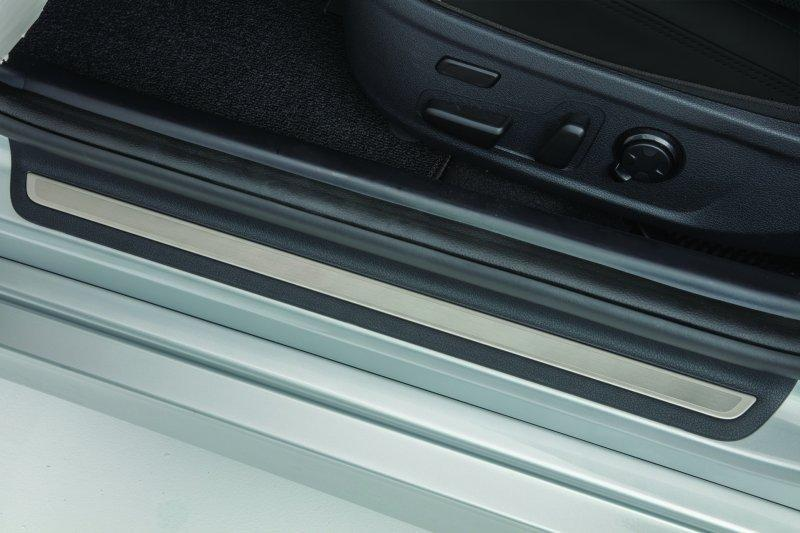 Пластина на дверные пороги J5F45-AK000-WK для KIA Stinger 2018 - стеллажи 1 дверные