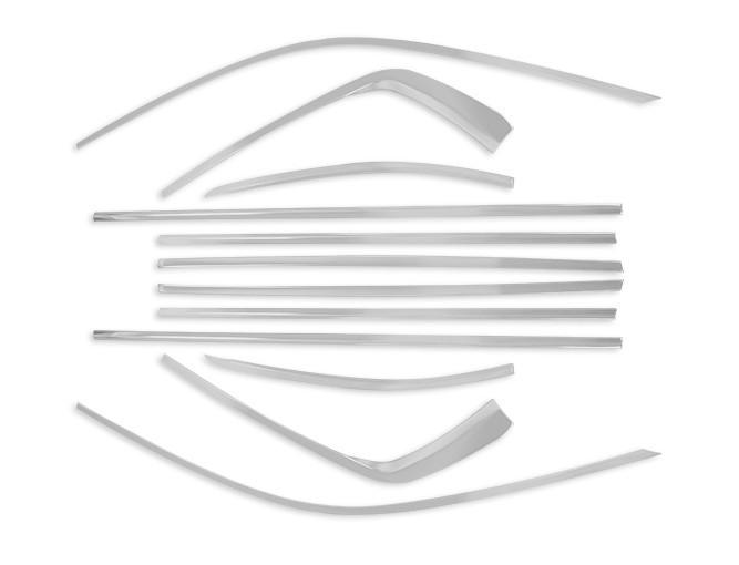 Молдинг боковых окон (хром, серебро) CHN для Volkswagen Teramont 2017 - obd модуль автоматического закрытия окон и люка chn для volkswagen teramont 2017
