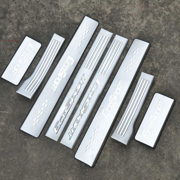 накладки на пороги ecosport Защитные накладки на пороги, внешние и внутренние OPTIMAL для Ford Ecosport
