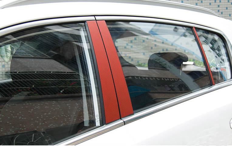 Наклейки защитные на боковые стойки KIA Sportage 2016 -
