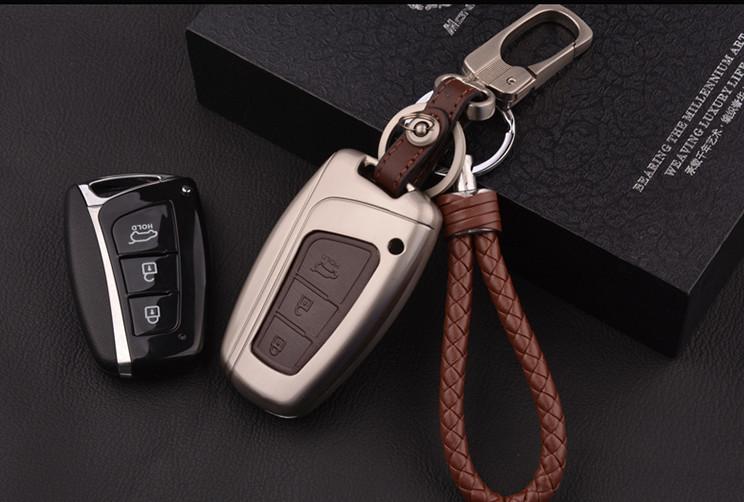 Металический кейс для ключа CHN для Санта Фе 4 (Hyundai Santa Fe 2018 - 2019) чехол для ключа силиконовый разные цвета эмблема hyundai chn для санта фе 4 hyundai santa fe 2015 2018