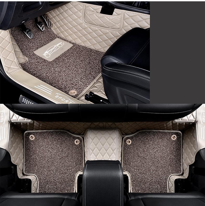 Коврики в салон 3D кожаные CHN для Geely Emgrand X7 2019 -