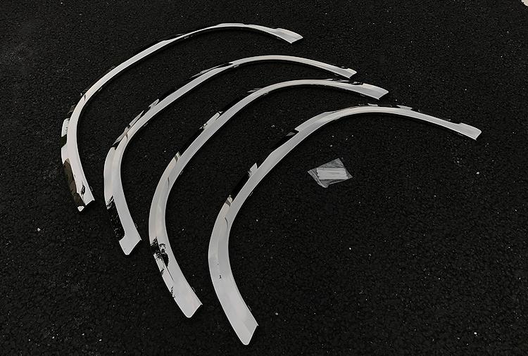 Хромированные накладки на расширители колесных арок CHN для Skoda Kodiaq (2017 - по н. в.) хромированные накладки на противотуманные фары chn 37487 для skoda kodiaq 2017 по н в
