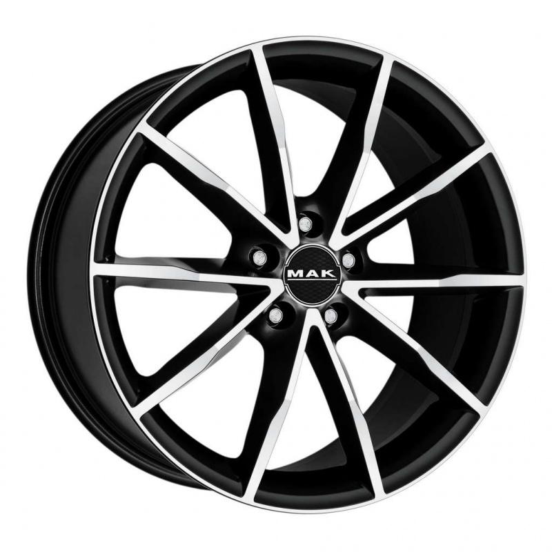 Диск колесный MAK Ringe 8xR18 5x112 ET50 ЦО57,1 черный матовый с полированной лицевой частью F8080RJIB50VE2