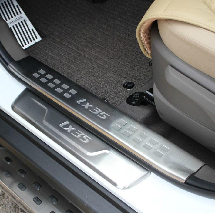 Накладки на пороги (внешние+внутренние) для Hyundai ix35 (2010 - 2015) накладки на пороги внешние и внутренние для hyundai tucson 2015 по н в