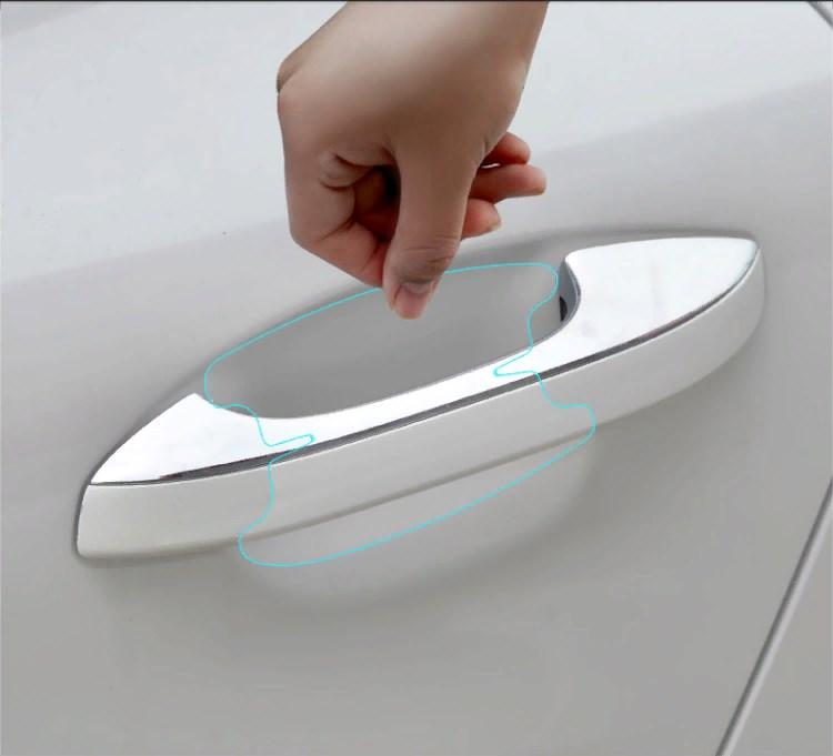 Прозрачная защитная пленка под дверные ручки KIA K5 2020- распашные шкафы 4 дверные