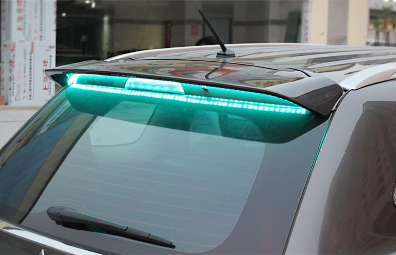 молдинг на низ боковых дверей нержавеющая сталь синие для mitsubishi outlander 3 2011 2014 Задний спойлер с LED-индикацией для Mitsubishi Outlander 3 (2011 - 2014)