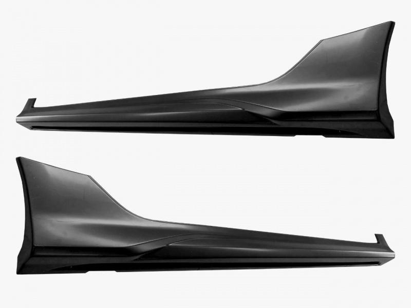 Накладки на пороги (без покраски) YurolTuning XR-01.03.00 Lada Vesta седан SW, SWCross 2015 -