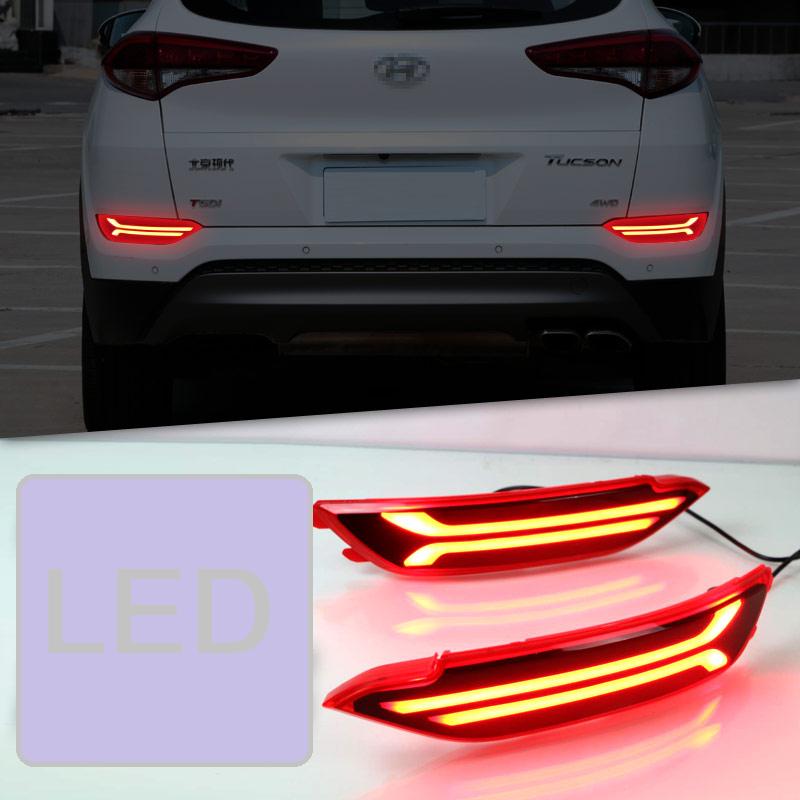 Светодиодные задние катафоты LED для Hyundai Tucson 2015 - 2018 молдинги на двери rider f 52 для hyundai tucson 2015