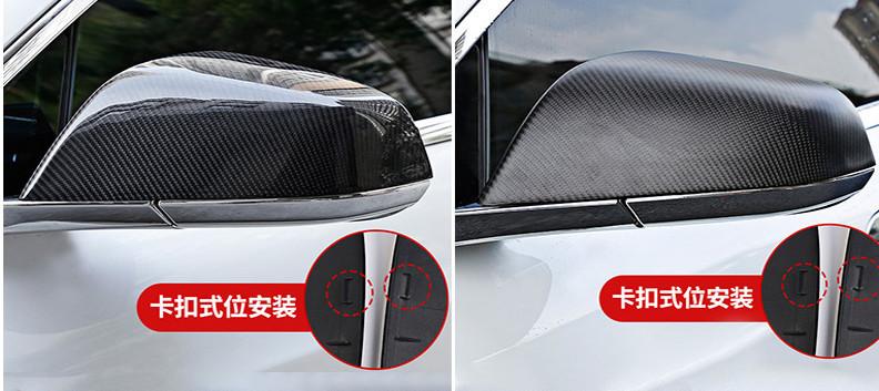 Крышки на боковые зеркала (черный карбон) для Tesla Model S (2012 - 2016)