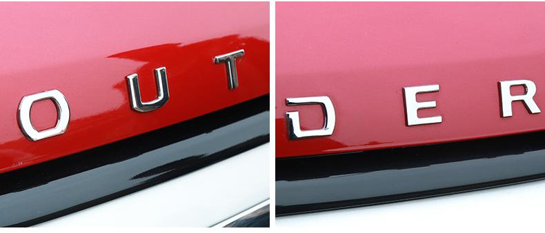 оплетка ручника mitsubishi outlander 2012 Буквы на капот OUTLANDER, металлические CHN для Mitsubishi Outlander 2012 - 2018
