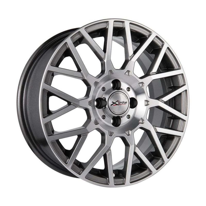 Диск колесный X'trike X-124 6.5xR16 4x98 ЕТ35 ЦО58.5 темный серебристый 68174 диск колесный x trike x 124 6 5xr16 4x98 ет35 цо58 5 белый 74535