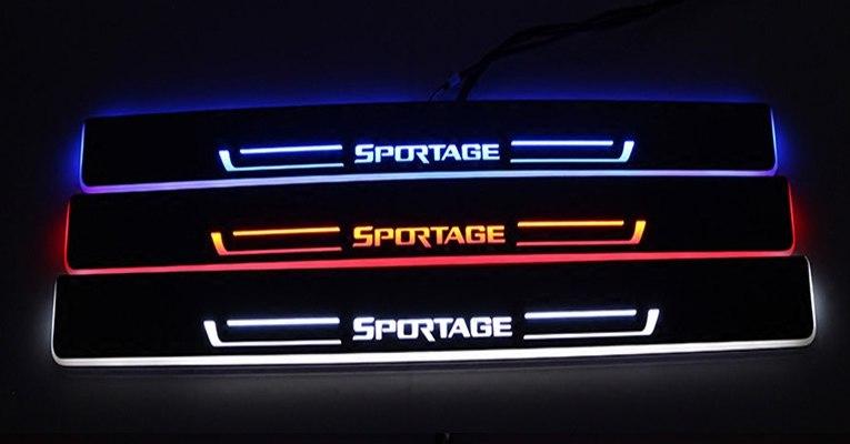 накладки на передние дверные пороги с led подсветкой kia b2f45ab010 для kia soul 2017 Накладки на пороги с подсветкой LED для KIA Sportage IV 2016 -
