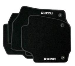 Коврики в салон Skoda Велюр черный 5JB061404E Skoda Rapid (2G) 2020- коврики в салон 3d для skoda yeti 2014
