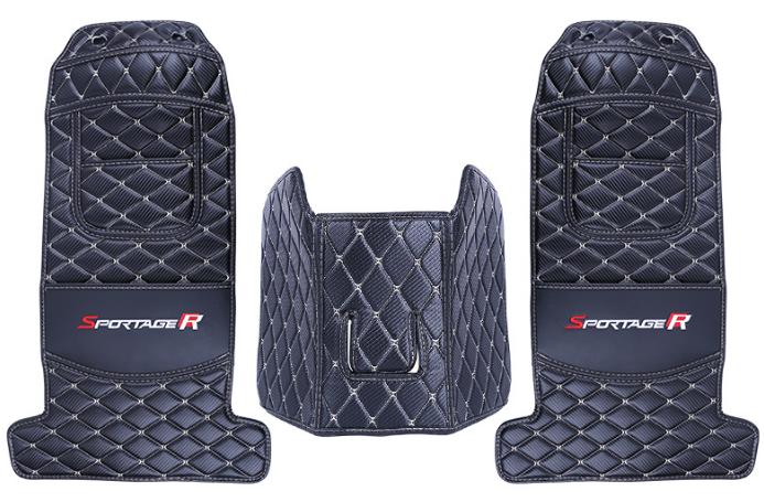 Защитные накидки на сиденья и тумбу (строчки разный) для Kia Sportage III 2010-2015