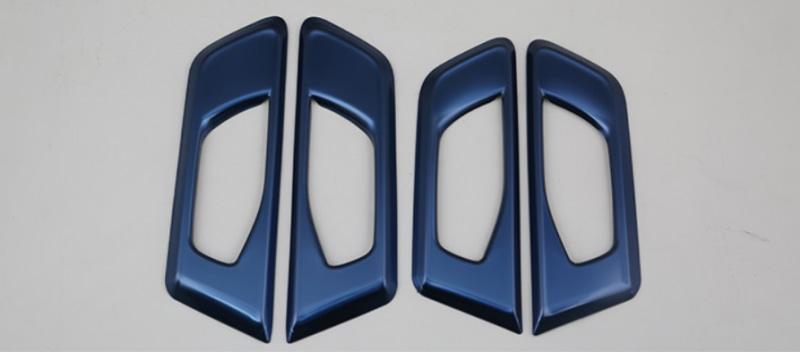 Накладки на дверные ручки (синие) Honda CRV 2020- стеллажи 3 дверные