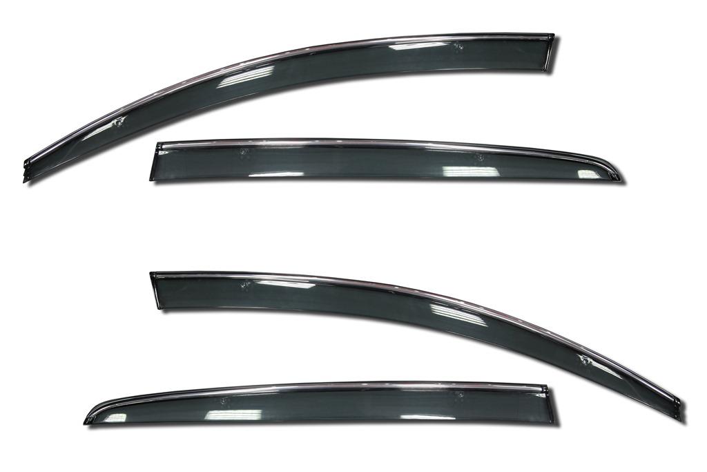 Фото - Дефлекторы окон с хромированным молдингом Cobra Tuning F33810CR для Ford Explorer 2010 - 2015 дефлекторы окон с хром молдингом cobra tuning hyundai santa fe 4g 2018