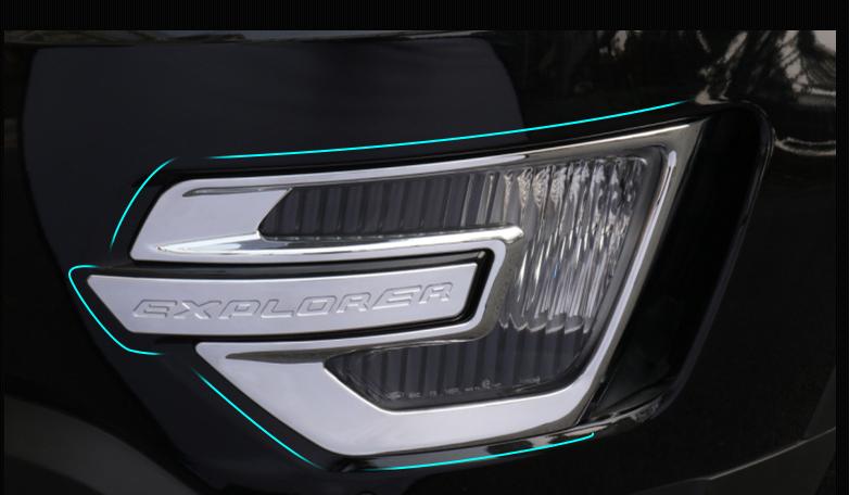 Хромированные накладки на противотуманные фары CHN для Ford Explorer 2015 - хромированные накладки на противотуманные фары chn 37487 для skoda kodiaq 2017 по н в