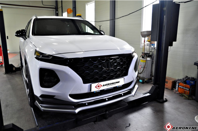 Защита переднего и заднего бампера для Санта Фе 4 (Hyundai Santa Fe 2018 - 2019) защита на низ сидений надись hyundai chn для санта фе 4 hyundai santa fe 2018 2019