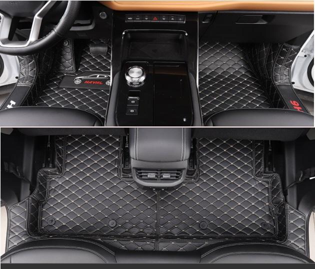 Коврики в салон полиуретан Haval H6 2021- коврики в багажник 8 элементов полиуретан серые с черным haval h6 2021