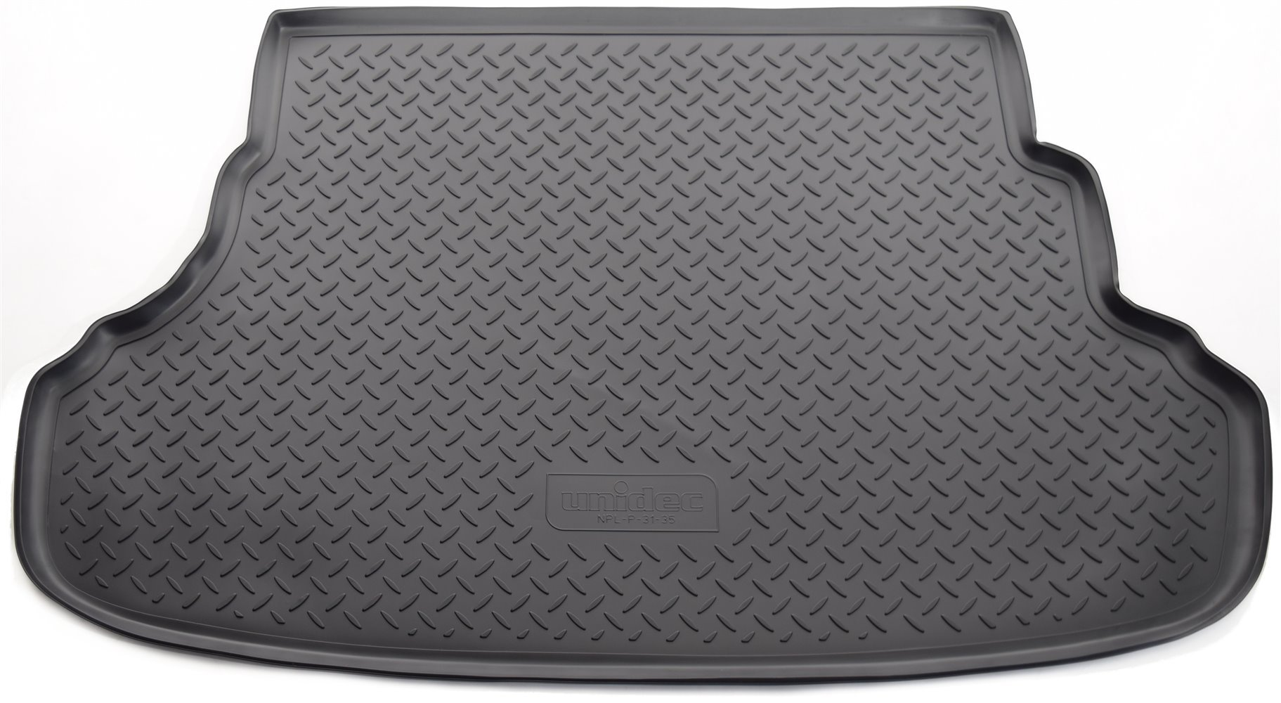 Коврик багажного отсека, 7 мест, резиновый, длинный для Санта Фе 4 (Hyundai Santa Fe) 2018 - 2019