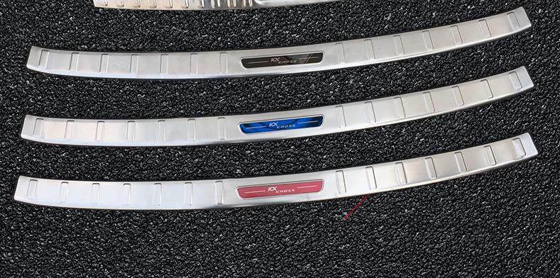 Защитная накладка на задний бампер CHN KX СROSS для KIA RIO X-Line 2017 - защитная наклейка на задний бампер chn для kia rio 2017