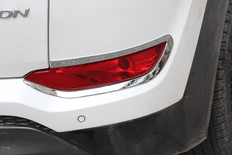 Фото - Хромированные накладки на катафоты для Hyundai Tucson (2015- по н.в. ) защита задняя гнутая диаметр 60 мм tcc hyuntuc15 34 для hyundai tucson 2015 по н в