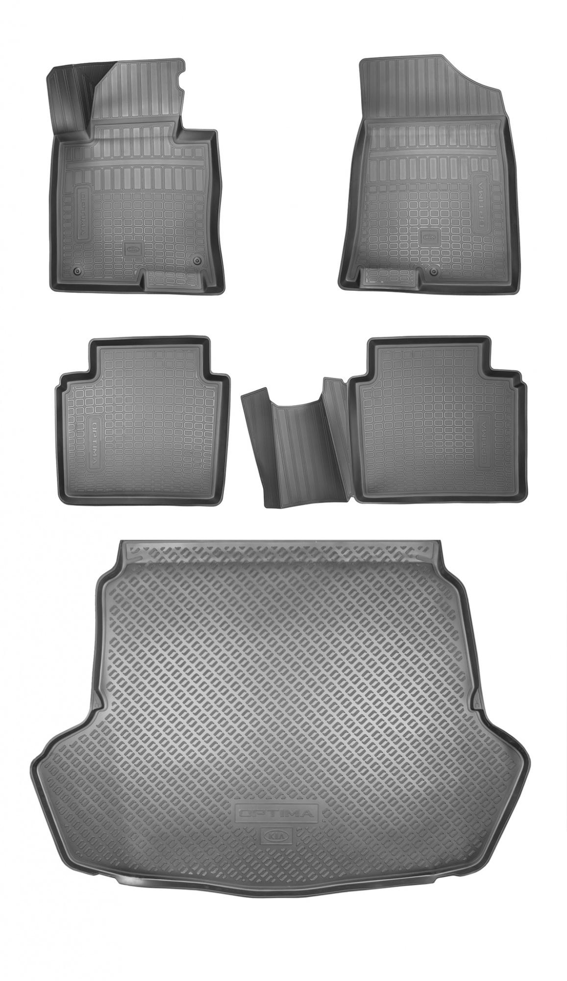 Коврики в салон и багажник (полиуретановые) для версий Classic и Comfort Mobis R8130D4001P для Kia Optima 2018 - штатный колесный диск 19 дюймов mobis 52910d4710 для kia optima 2018