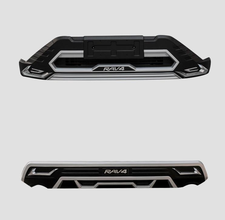 Модифицированный передний и задний бамперы для Toyota RAV4 (Тойота РАВ4) 2019 - накладка на задний бампер нержавеющая сталь toyota pw178 42000 для toyota rav4 new тойота рав4 2019