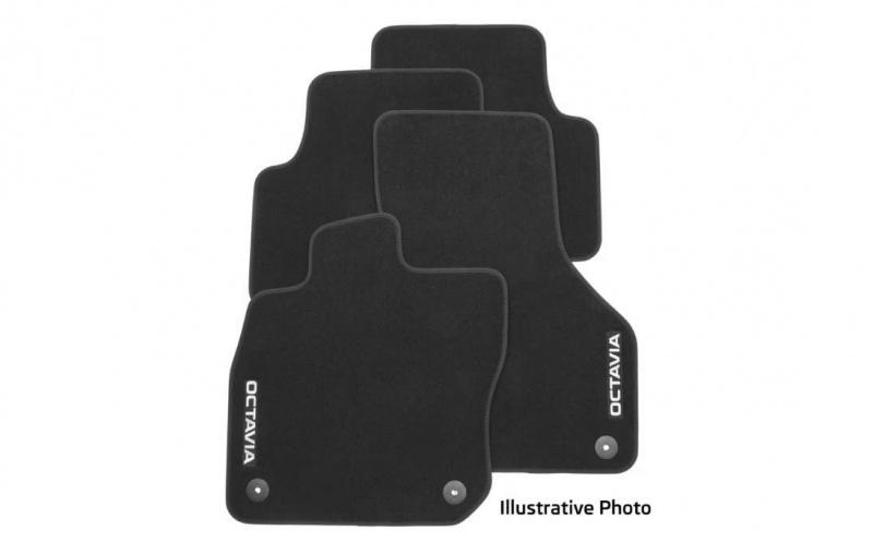 Коврики в салон Skoda велюр серый 5E4061270 Skoda Octavia (4G) A8 2020- коврики в салон 3d для skoda yeti 2014