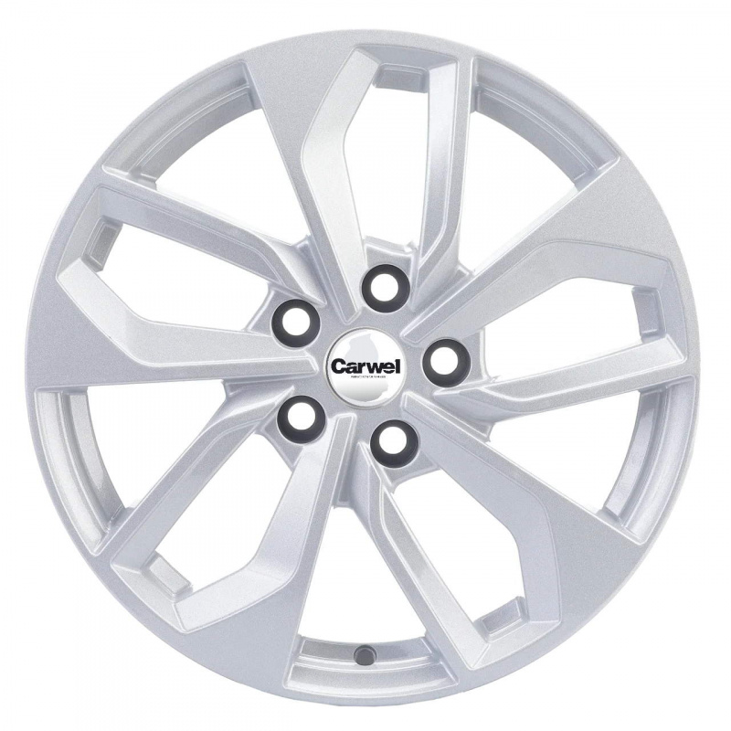 Диск колесный Carwel Эльтон 1703 7xR17 5x114,3 ET50 ЦО67,1 серебристый 31328