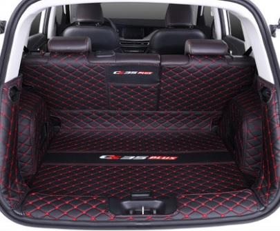 Фото - Коврик для багажника 4 элемента (черный с красным) для Changan CS35 Plus 2019- коврик для багажника черный с красным 2 элемента для changan cs35 plus 2019