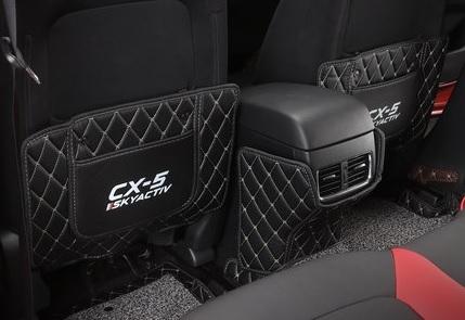 Фото - Кожаные коврики на спинки передних пассажиров и задние воздуховоды для Mazda CX-5 2017- коврики в салон 3d кожаные для mazda cx 5 2017