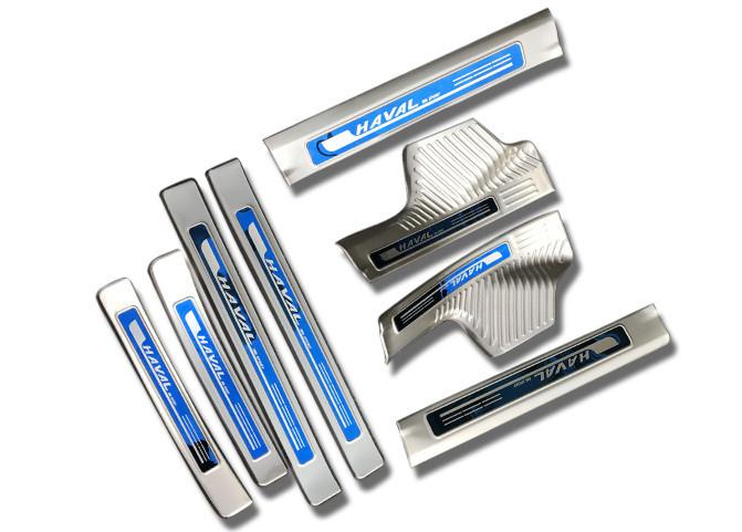 Накладки на дверные пороги (нержавеющая сталь и комплектация) для Haval H6 Coupe 2017 +