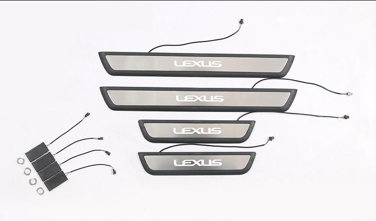 Накладки на пороги с подсветкой LED для LEXUS RX (2015 - по н.в)