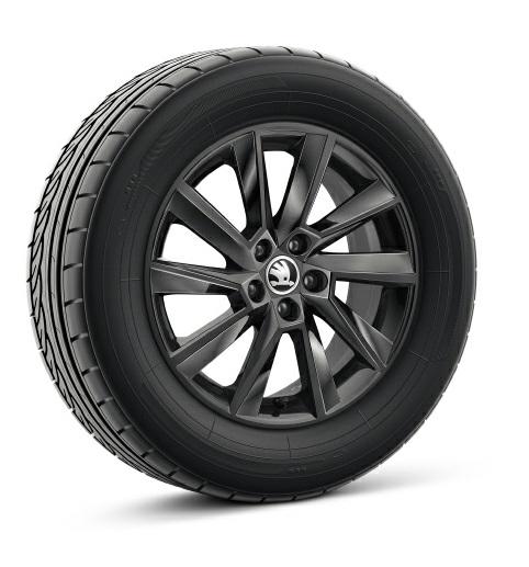 Диск колесный R16 Stratos (черный) 60U071496JX2 для Skoda Rapid 2020 - колесный диск r16 52910f2200 для hyundai elantra 2016