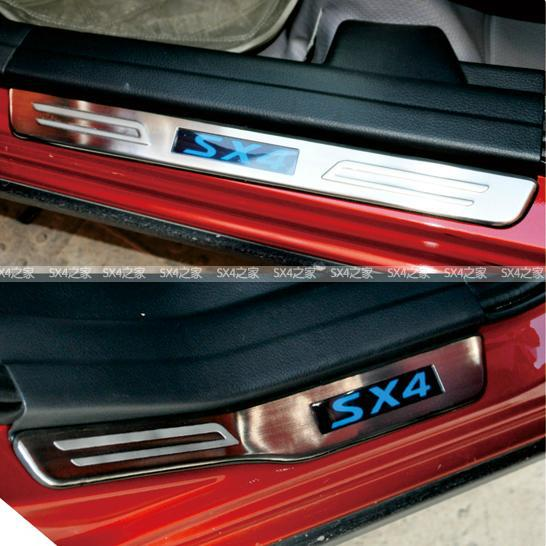 накладки на пороги с подсветкой lux Накладки на пороги с подсветкой для Suzuki SX4 (2007 - 2013)