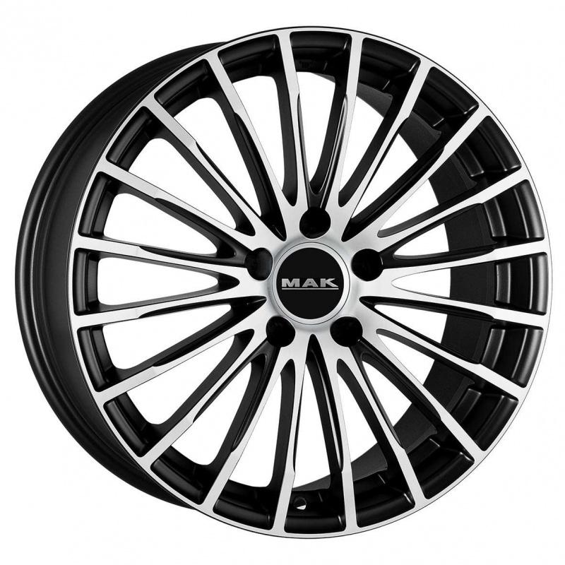 Диск колесный MAK Starlight 8,5xR19 5x112 ET35 ЦО66,6 черный матовый с полированной лицевой частью F8590FAIB35WS2X