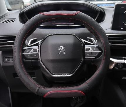 Оплетка руля с текстильной вставкой для Peugeot 3008 2017-
