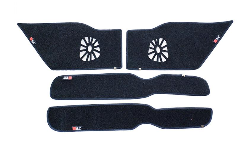 Защитные накидки на внутреннюю поверхность дверей для Mitsubishi Pajero Sport (2008 - 2016)