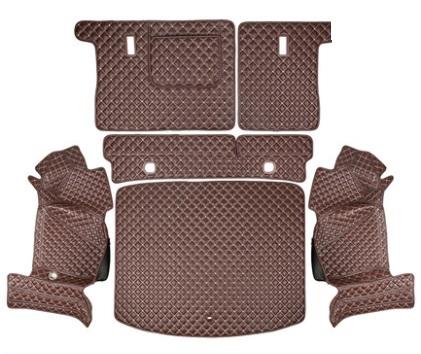 Коврики в багажник 6 элементов (полиуретан, коричневые) Honda CRV 2020-