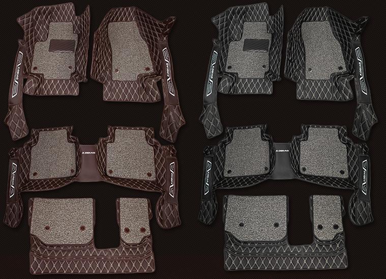 Коврики в салон 3D, кожаные для SKODA Kodiaq (2017 - по н. в.) подушки в салон для передних сидений для skoda kodiaq 2017