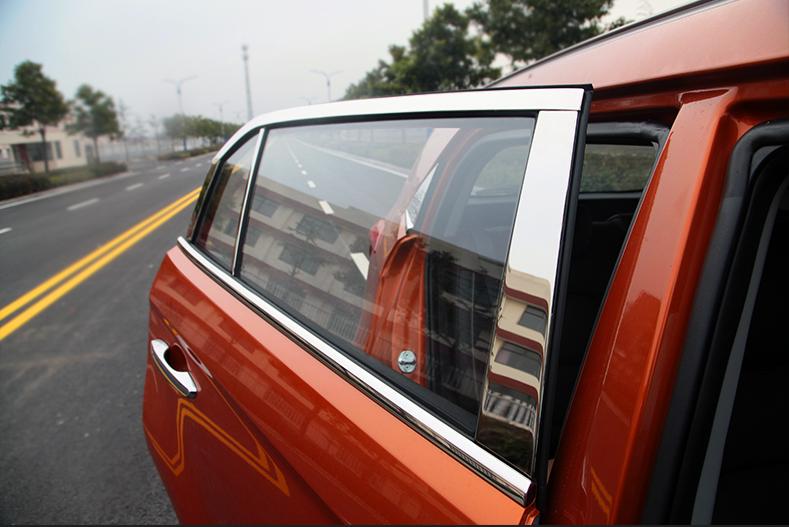 Хромированные накладки на стойки дверей и верх окон для Hyundai CRETA