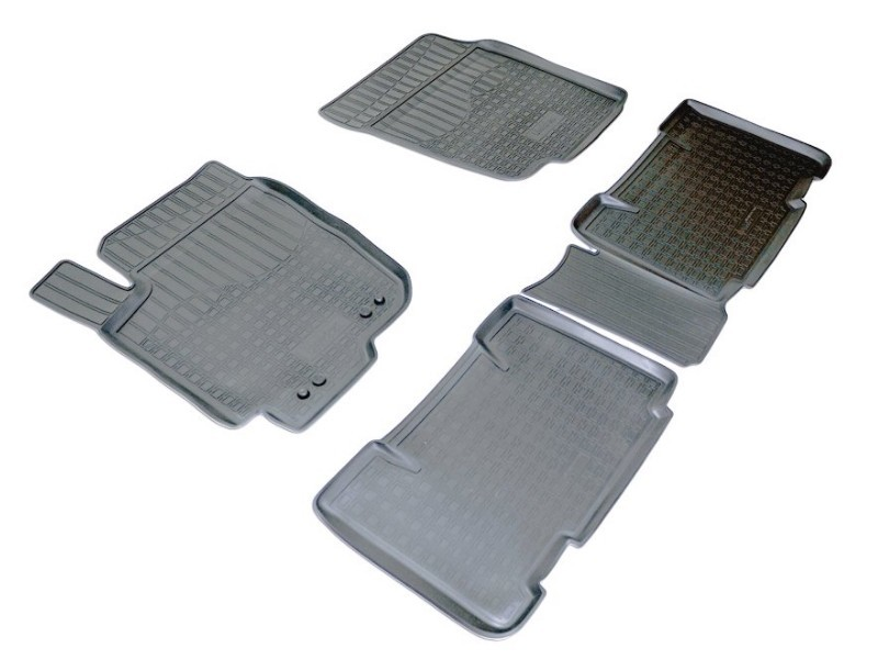 Коврики салона (полиуретан), чёрные Norplast NPA11-C88-700 для Toyota RAV4 2015-