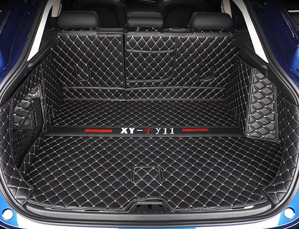 3D коврики в багажник из экокожи Geely Tugella (Тугелла) 2020 -