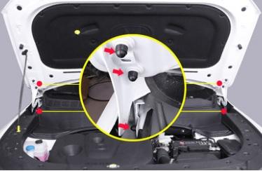 Фото - Заглушки для крышки вентилятора Changan CS35 Plus 2019- коврик для багажника черный с красным 2 элемента для changan cs35 plus 2019